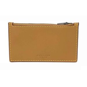 Coach Men's Zip Card Case Glovetanned Wallet